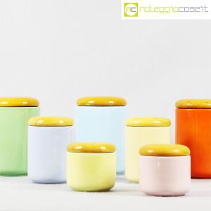 Ceramiche Franco Pozzi, set barattoli color pastello, Ambrogio Pozzi (6)