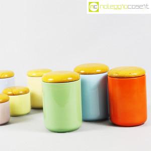 Ceramiche Franco Pozzi, set barattoli color pastello, Ambrogio Pozzi (7)