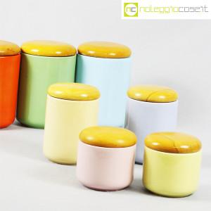 Ceramiche Franco Pozzi, set barattoli color pastello, Ambrogio Pozzi (8)