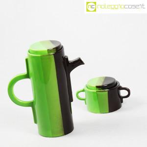 SIC Ceramiche Artistiche, teiera e zuccheriera verde e marrone (3)