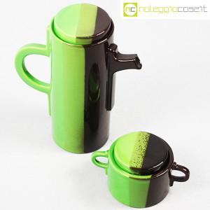 SIC Ceramiche Artistiche, teiera e zuccheriera verde e marrone (4)