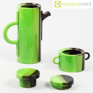 SIC Ceramiche Artistiche, teiera e zuccheriera verde e marrone (5)
