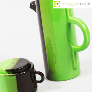 SIC Ceramiche Artistiche, teiera e zuccheriera verde e marrone (6)