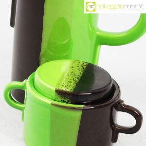 SIC Ceramiche Artistiche, teiera e zuccheriera verde e marrone (7)