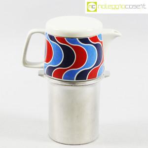 Ceramiche Franco Pozzi, caffettiera con decoro optical, Ambrogio Pozzi (1)
