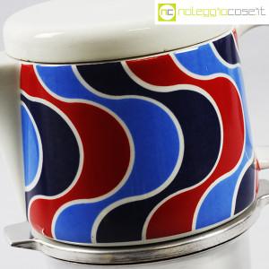 Ceramiche Franco Pozzi, caffettiera con decoro optical, Ambrogio Pozzi (7)