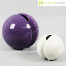 Ceramiche Pozzi vasi viola e bianco