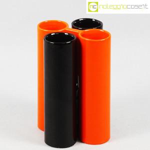 Il Picchio, ceramica componibile nero e arancione (1)