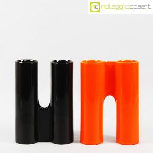 Il Picchio, ceramica componibile nero e arancione (2)