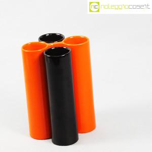 Il Picchio, ceramica componibile nero e arancione (3)