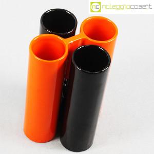 Il Picchio, ceramica componibile nero e arancione (4)