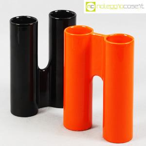 Il Picchio, ceramica componibile nero e arancione (5)