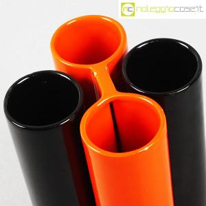 Il Picchio, ceramica componibile nero e arancione (6)