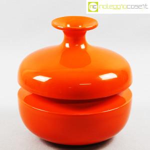 Il Picchio, vaso arancione con strozzatura, Enzo Bioli (1)