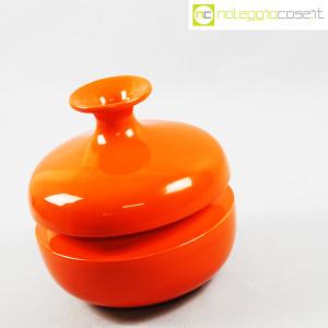 Il Picchio, vaso arancione con strozzatura, Enzo Bioli (3)