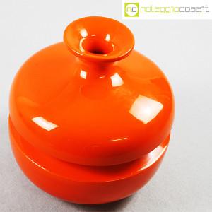 Il Picchio, vaso arancione con strozzatura, Enzo Bioli (4)