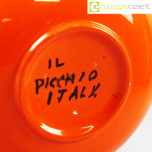 Il Picchio, vaso arancione con strozzatura, Enzo Bioli (8)
