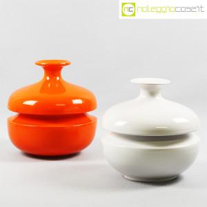 Il Picchio, vaso arancione con strozzatura, Enzo Bioli (9)