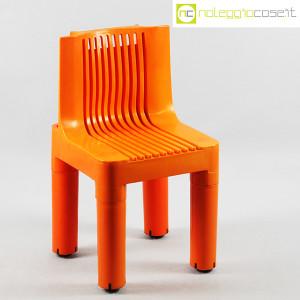 Kartell, sedia per bambini arancio K1340, Marco Zanuso, Richard Sapper (1)