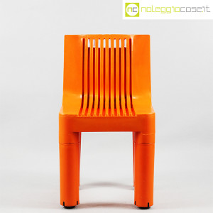 Kartell, sedia per bambini arancio K1340, Marco Zanuso, Richard Sapper (2)