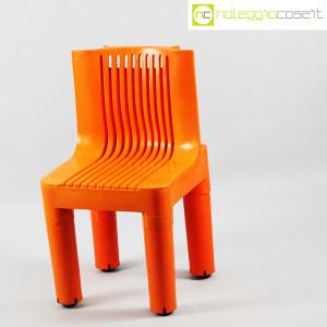 Kartell, sedia per bambini arancio K1340, Marco Zanuso, Richard Sapper (3)