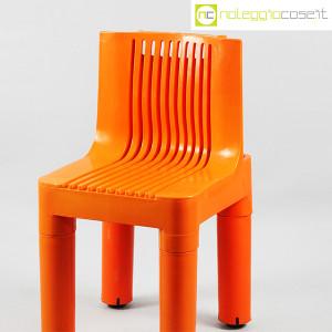 Kartell, sedia per bambini arancio K1340, Marco Zanuso, Richard Sapper (4)