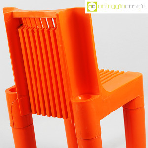 Kartell, sedia per bambini arancio K1340, Marco Zanuso, Richard Sapper (7)