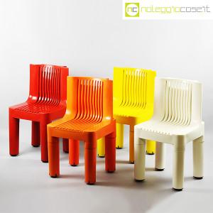 Kartell, sedia per bambini arancio K1340, Marco Zanuso, Richard Sapper (9)