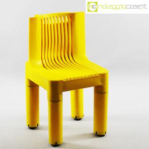 Kartell, sedia per bambini gialla K1340, Marco Zanuso, Richard Sapper (1)