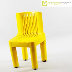 Kartell, sedia per bambini gialla K1340, Marco Zanuso, Richard Sapper (3)
