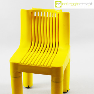 Kartell, sedia per bambini gialla K1340, Marco Zanuso, Richard Sapper (4)