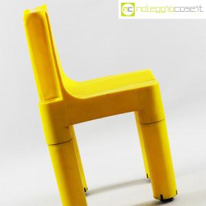 Kartell, sedia per bambini gialla K1340, Marco Zanuso, Richard Sapper (6)
