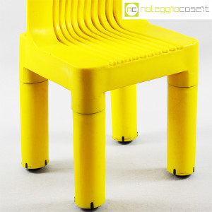 Kartell, sedia per bambini gialla K1340, Marco Zanuso, Richard Sapper (8)