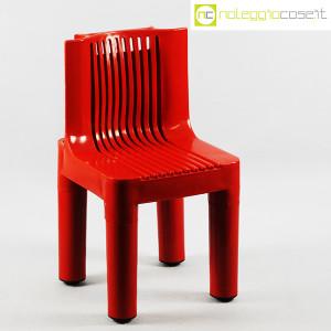 Kartell, sedia per bambini rossa K1340, Marco Zanuso, Richard Sapper (1)