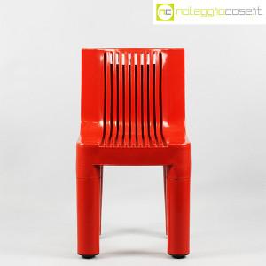 Kartell, sedia per bambini rossa K1340, Marco Zanuso, Richard Sapper (2)