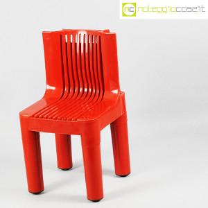 Kartell, sedia per bambini rossa K1340, Marco Zanuso, Richard Sapper (3)