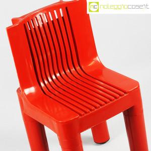 Kartell, sedia per bambini rossa K1340, Marco Zanuso, Richard Sapper (5)