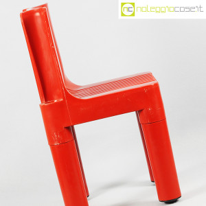 Kartell, sedia per bambini rossa K1340, Marco Zanuso, Richard Sapper (6)