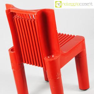 Kartell, sedia per bambini rossa K1340, Marco Zanuso, Richard Sapper (7)