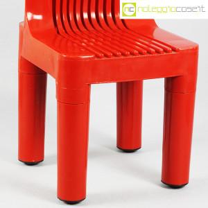 Kartell, sedia per bambini rossa K1340, Marco Zanuso, Richard Sapper (8)