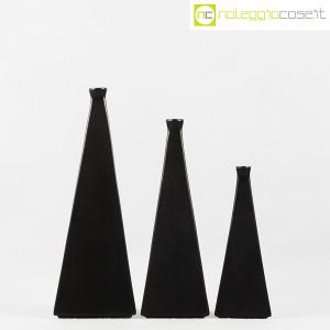 Milesi Ceramiche, set vasi a piramide neri (2)