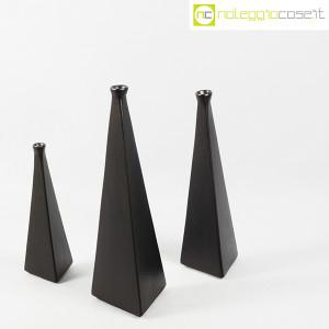 Milesi Ceramiche, set vasi a piramide neri (3)