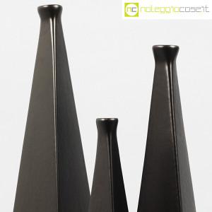 Milesi Ceramiche, set vasi a piramide neri (6)