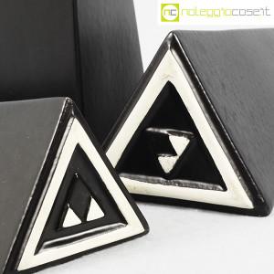 Milesi Ceramiche, set vasi a piramide neri (8)