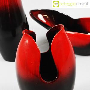 Ceramiche Franco Pozzi, set ceramiche in nero e rosso al selenio, Ambrogio Pozzi (8)