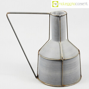 Milesi Ceramiche, grande brocca con rete metallica (1)