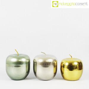 Rinnovel, set portaghiaccio Mela verde, ottone e cromo, Ettore Sottsass (2)