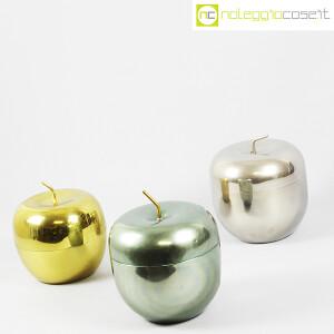 Rinnovel, set portaghiaccio Mela verde, ottone e cromo, Ettore Sottsass (3)