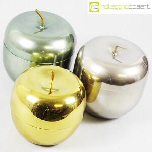 Rinnovel, set portaghiaccio Mela verde, ottone e cromo, Ettore Sottsass (4)