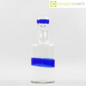 Venini, bottiglia in vetro con fascia blu, Fulvio Bianconi (2)